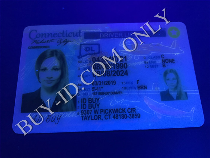 New Connecticut fake id UV lamp irradiation