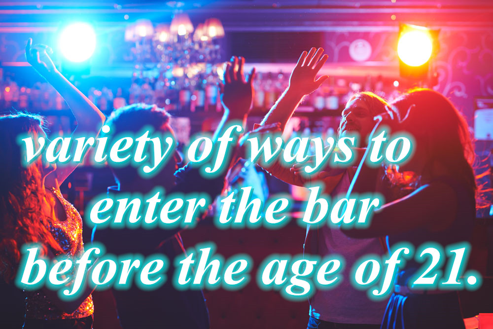 variety of ways to enter the bar before the age of 21