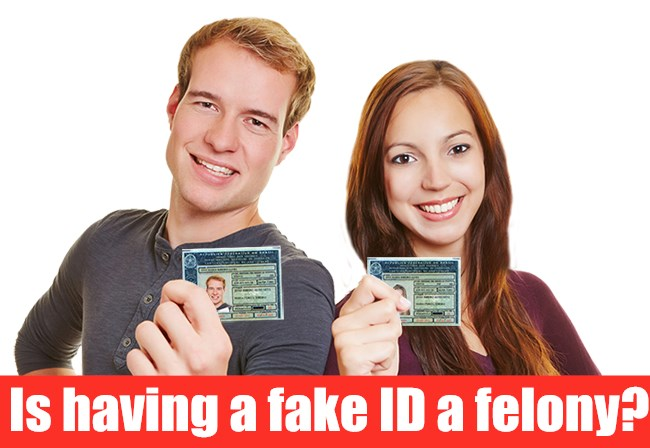 Two people were happy to get fake ID.